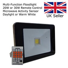 20W Remote Control Motion Sensor Activated Microwave LED Security Floodlight