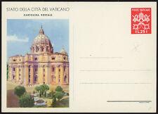 VATICANO 1949 - INTERO POSTALE, CARTOLINA POSTALE VEDUTE L. 25