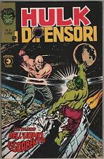 HULK E I DIFENSORI corno N.2 IL RITORNO DELL'UOMO ASSORBENTE originale 1975