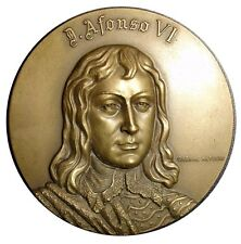 Monarchy Afonso VI King of Portugal The Victorious Bronze Medal by C Antune M19a
