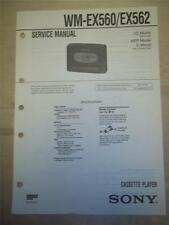 Sony Service Manual~WM-EX560/EX562 Walkman Cassette Player~Original~Repair