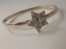 925 SILVER BABY BANGLE. STONE SET STAR BANGLE