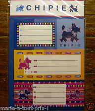 Lot De 9 Etiquettes Scolaires Stickers Chipie Pour Cahiers Livres (lot 2)