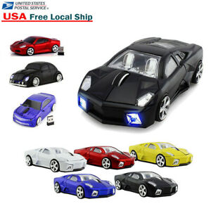 USB 2.4G Car Wireless Optical Mouse Cordless Gaming led Mice for PC Laptop Gift