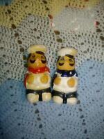 SET OF VINTAGE CERAMIC ITALIAN CHEF SALT AND PEPPER SHAKERS