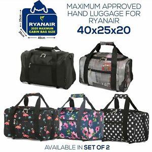 Ryanair 40x20x25cm Hand Luggage Travel Cabin Flight Bag Under Seat Holdall Bag