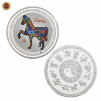WR Chinese Lunar Year of the Horse SILVER Coin Animal Zodiac Lucky Gifts For Her