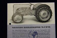 org. VK Prospekt Ferguson Dieselschlepper TE - F 27 PS Massey Harris Ferguson