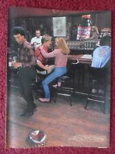 1983 Print Ad Bud Budweiser Beer ~ Scene in a Bar Giant Bottle Cap on Floor
