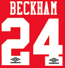 Manchester United Beckham Nameset Shirt Soccer Number Letter Heat Football Home
