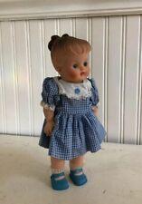 "Vintage Vinyl Baby Doll Molded Hair Curly Bun 10"" Minty!"