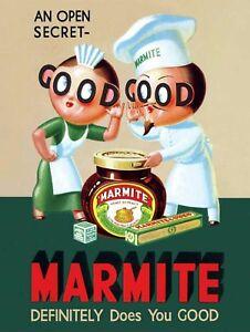 Good Marmite, Retro metal Sign/Plaque Wall vintage / Kitchen Gift