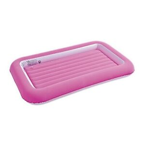 Pink Girls Children Airbed Inflatable Outdoors Camping Toddlers Air Bed Mattress