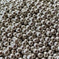 SILVER HIGH SHINE EDIBLE PEARLS SPRINKLES SUGAR BALLS CAKE DECORATIONS100s&1000s
