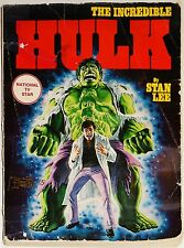 INCREDIBLE HULK BOOK-1978-MARVEL COMICS-SIGNED BOB LARKIN-FIRESIDE-STAN LEE