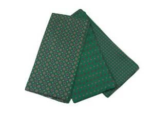 Foulard uomo man fazzoletto da collo seta stampata verde dis rosso beige