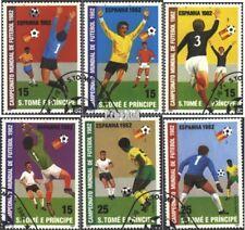 Sao Tome e Principe 754A-759A gestempeld 1982 Voetbal-WM in Spanje
