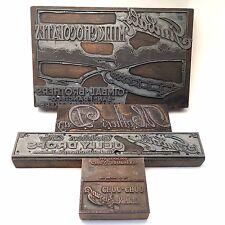 Vintage Wood Printing Blocks *Gimbal Brothers* San Francisco /4 plates