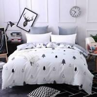 3D Black And White Small Tree KEP8761 Bed Pillowcases Quilt Duvet Cover Kay