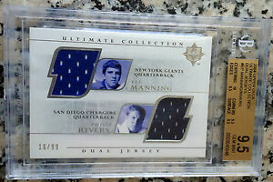 PHILIP RIVERS ELI MANNING 2004 Ultimate Rookie RC Dual Jersey 16/99 BGS 9.5 10 $