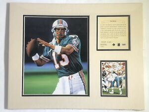1995 Dan Marino Miami Dolphins Matted Kelly Russell Lithograph Print #308 NOS