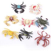 8pcs Plastic Multi-color PVC Various Crabs Model Kids Toy Gift