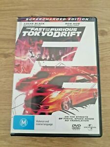 THE FAST & THE FURIOUS: TOKYO DRIFT DVD Movie (R4) 2006