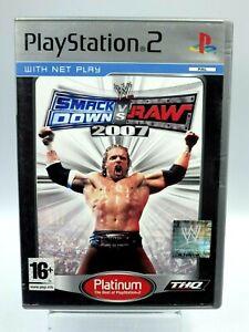 PS2 Wwe Smack verso il Basso Vs Raw 2007 Gioco 2 Completo Vintage Retrogaming