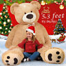 "Giant Teddy Bear 63"" Plush Stuffed Animal Toys Valentine Kids Birthday Xmas Gift"