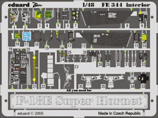 Eduard Colour Photoetch for 1/48 F-18e Interior for Revell Kit Fe344