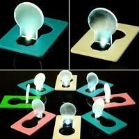 Geldbörse Taschen-Kreditkarte Größe Tragbare LED-Nachtlicht-Lampen-Birne H8T1
