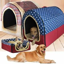 Pet Kennel Dog Cat House Mat Cave Soft Bed Washable Pad Puppy Cushion Foldable!!