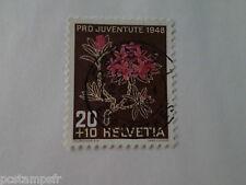 SUISSE SCHWEIZ, 1944, timbre 469, FLEURS, RHODODRENDON, FLORE, FLOWERS, oblitéré