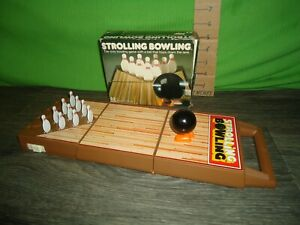 vintage original 1980s Strolling Bowling game with box TOMY