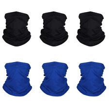 6PCS Summer Face Mask Gaiter Biker Scarf Tube Bandana Beanie Cover Cap Headwrap