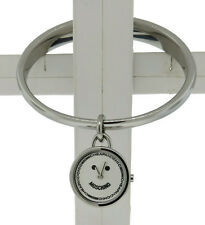 Moschino MW0053 Women's Bangle Round Silver Tone Smiley Face Analog Watch