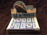 Lames de Rasoir Ile de France 20 paquets de 5 Lames Anciennes 1943 CGT