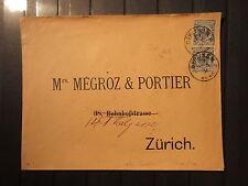 Dt. Reich Nr. 48 MeF auf Brief nach Zürich  1891  (RR101)