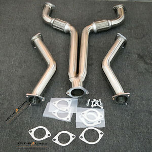 Exhaust Y-Pipe+Downpipe For 03-07 Nissan 350Z Z33 Infiniti G35 V35 3.5L VQ35DE