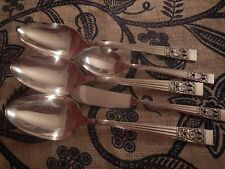 Oneida CORONATION Silverplate flatware 3 serving spoons sugar butter
