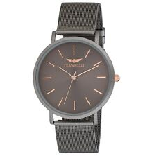 Gianello Stainless Steel Slim Case Mesh Bracelet Watch Comes in a Gift Box