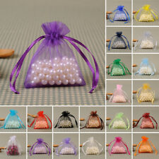 50 Organza Jewelry Candy Gift Pouch Bags Wedding Party Xmas Favors Decor :7*9cm