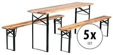 5x Ensemble Brasserie Table Banc Bois Pliable Meuble Jardin Terrasse Fete Bar