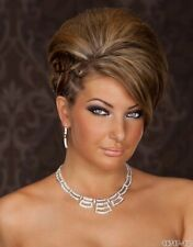 FASHION WEDDING PARTY EVENING JEWELLERY NECKLACE AND 2 PRS EARRING STYLE 02