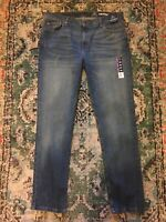 43D👖George Men's Slim Straight Fit Jeans Black Size 38 X 32 Stretch  5 pockets