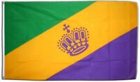 Fahne Mardi Gras Flagge Karneval Hissflagge 90x150cm