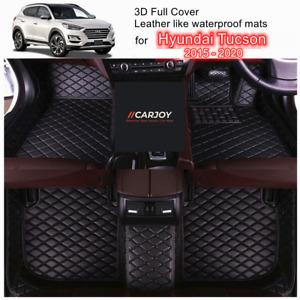 3D PU leather Customized Waterproof Car Floor Mats for Hyundai Tucson 2015- 2020