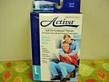 Small  Beige Soft Fit Knee High Socks Closed Toe  Activa 20-30 mmHg   H3001
