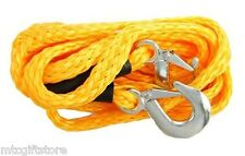 "13' x 5/8"" 4400 lb. Yellow Nylon Tow Rope Strap Free Ship Quad Runner # 11012"