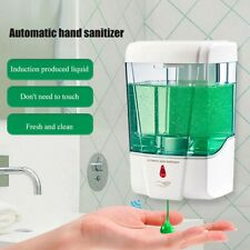 US Automatic Liquid Soap Dispenser 700ML Handfree Touchless IR Sensor Wall Mount
